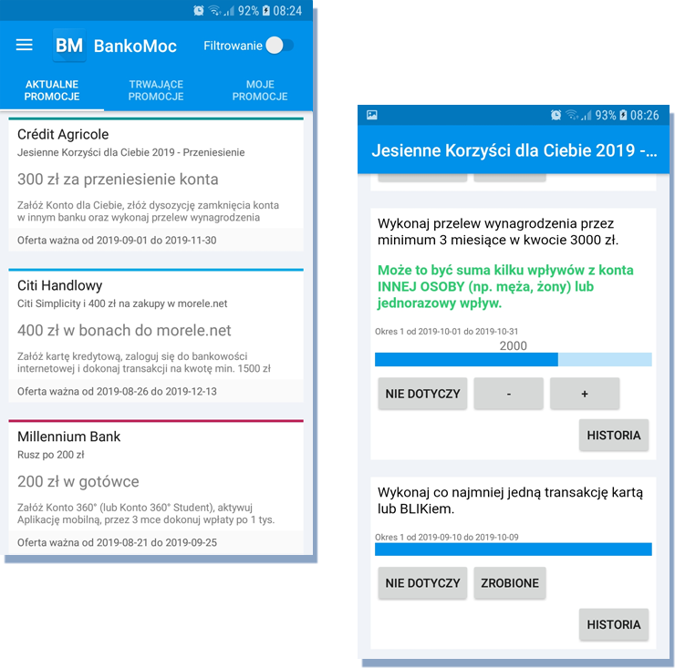 Bankomoc - aplikacja